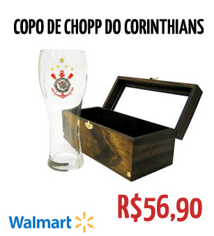 Copo de chopp do Corinthians